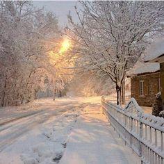 Winter, cottage, snow