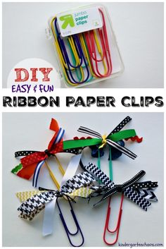Make these ribbon-embellished jumbo paper clips, as the perfect gift for Administrative Professionals Day! Includes FREE printable and DIY directions!