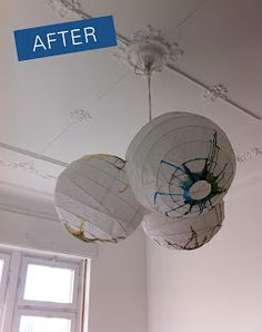 Made by Maigaard: D.I.Y. - Watercolor Paper lamps
