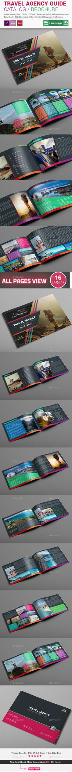 Travel Agency Guide Catalog / Brochure  InDesign Template • Download ➝ https://graphicriver.net/item/travel-agency-guide-catalog-brochure/15488826?ref=pxcr