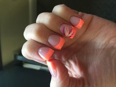 Coral French tips                                                                                                                                                      More
