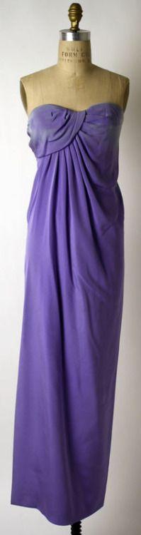 1980s Yves Saint Laurent evening dress via The Costume Institute of The Metropolitan Museum of Art