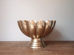 SO in love with this!!! -brass petal bowl with pedestal base
