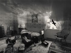 Jerry Uelsmann, Unknown - Uelsmann was born in 1934 in Detroit, MI. He earned a BA from Rochester Institute of Technology as well as a MS and MFA degree from Indiana University. Uelsmann is known for his darkroom photomontage imagery. His work leaves the viewer to their own imagination to discover what they see in each piece of artwork. The inspirational element of Uelsmann's work is his use of photomontage and the way he creates these imaginary places.