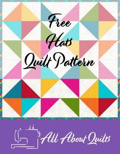 Free quilt pattern based on the half square triangle. Perfect for the beginner quilter to make. Quilting Designs, Quilt Design, Quilting Ideas, Half Square Triangle Quilts, Quilt Patterns Free, Baby Quilts, Quilt Blocks, 52 Weeks, How To Make