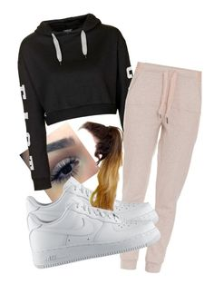 """""""Untitled #596"""" by nayedm on Polyvore featuring Topshop, adidas and NIKE"""