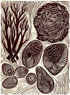 Linocut by sprouthead
