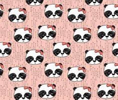 ©  Copyright  Andrea Lauren -  You are permitted to sell items you make with this fabric, but request you credit Andrea Lauren as the designer. Coordinates: Solids -- Warm, Solids - Cool, Dots  View the Entire Panda with Bows Collection