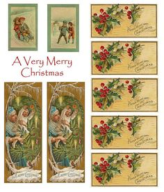 All sizes | Christmas collage sheet, via Flickr.