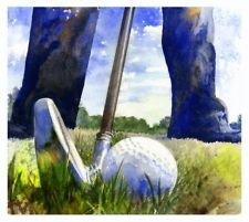 Fine Art Print - Watercolor Golf Painting Giclee of Golfer by Andrew King