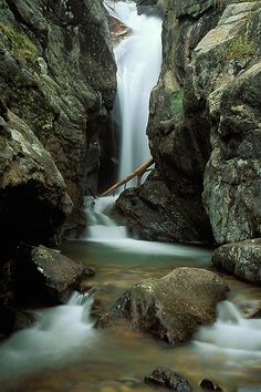 Picture of Chasm Falls in Rocky Mountain National Park, CO.