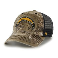 size 40 e242f bd698 NFL San Diego Chargers 47 Huntsman Closer Camo Mesh Stretch Fit Hat One  Size Realtree Camouflage