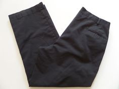 PANTS Men's Pants Size-36 Boot Cut Off Black Made in USA Zipper Fly Nice! #Pants #CasualPants