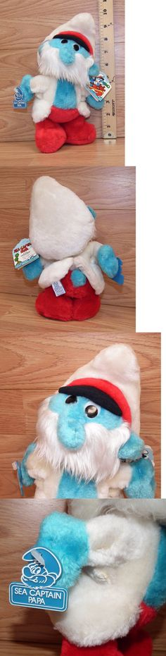 Smurfs 19243: Vintage Wallace Berrie Peyo 1983 Sea Captain Papa Smurf 10 Tall Plush Toy Only -> BUY IT NOW ONLY: $35.08 on eBay!