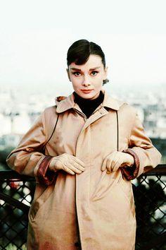 Audrey Hepburn on location in Paris for the filming of Funny Face (1957)