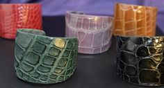 American Alligator Cuffs add style to any outfit.