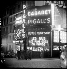 """Marcel Bovis: Pigalle """"The most daring nudes of the world"""", 1958."""