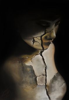 "Artist Carmine Monzo; Drawing, ""Breaking Point"". Pastel, charcoal. #art"