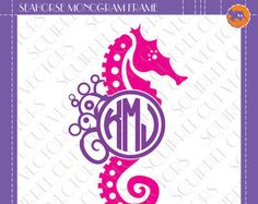 Lady Bug Monogram Frame SVG DXF EPS Cutting by SquirrelCutVectors
