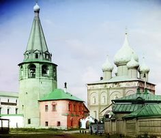 Amazing color separation! Sergei Prokudin-Gorskii: Cathedral of the Nativity of the Virgin, Suzdal, Russia, 1912