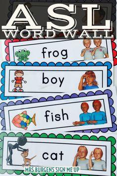 American Sign Language Word Wall