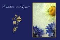 Frozen BlueDobbelt gratulasjonskort med konvolutt.Tekst:Gratulerer med dagen!Passer til bursdager og andre anledninger.Foto/design: Randi Grace Nilsberg
