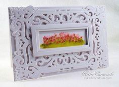 mini watercolor flower garden card by Kittie Caracciolo