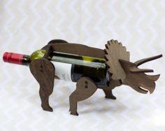 Wine-O-Saur Wooden Dinosaur Wine Rack by TheBackPackShoppe on Etsy