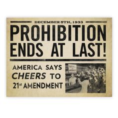 Prohibition Ends At Last Prints from Liberty Maniacs