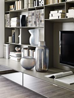 System-Bookcase: FLAT.C - Collection: B&B Italia - Design: Antonio Citterio