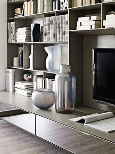 System-Bookcase: FLAT.C - Collection: BB Italia - Design: Antonio Citterio