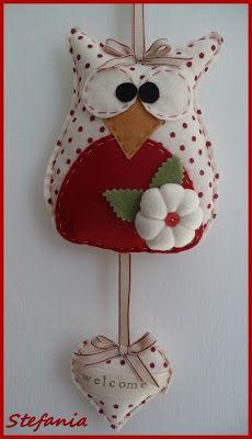 L'Angolo di Stefania Felt Board Patterns, Felt Animal Patterns, Felt Crafts Patterns, Stuffed Animal Patterns, Fabric Crafts, Sewing Crafts, Owl Ornament, Felt Ornaments, Seed Bead Crafts