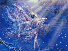 Where Moonbeams Fall by Josephine Wall . . . I hope you enjoy Fairyland. You will find all of the inhabitants of Fairyland by clicking on the image.