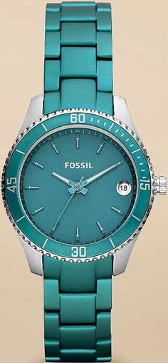 #Fossil #Watch , Fossil Stella Mini Aluminum and Stainless Steel Watch Teal...$86.25