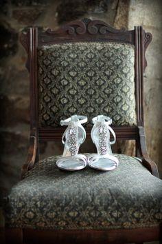 Silver Bridal Shoes | Antonio Melani | Araujo Photography | TheKnot.com