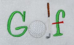 What you can do with a few simple designs, some keyboard lettering, and editing software. Golf ball, club, & tee from Sports 1.