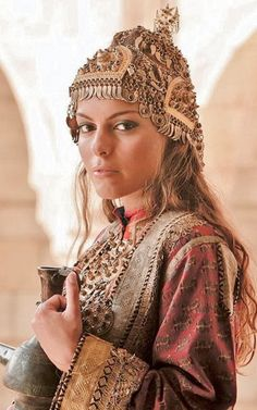 Traditional festive costume from Azerbaijan. Clothing style: late 19th century.