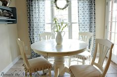 Beneath the Magnolias: Breakfast Room Reveal! {Love the curtains!!!}