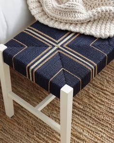 Modern coastal design is a fresh take on the traditional coastal style. View gorgeous images and learn how to create this look in your own home. Handmade Furniture, Home Decor Furniture, Furniture Making, Furniture Design, Modern Coastal, Coastal Style, Upholstered Dining Bench, Woven Chair, Diy Chair