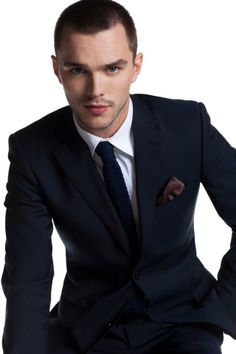 Nicholas Hoult  I dont know Im beginning to get used to the buzzed hair...mmm!
