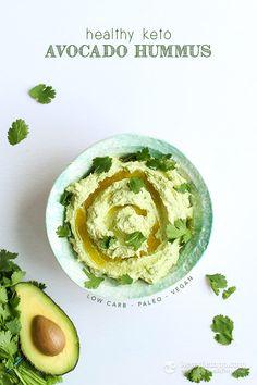 Healthy Keto Avocado Hummus