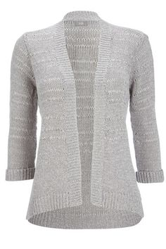 Grey Tape Stitch Cardigan