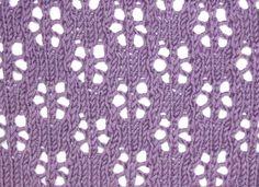 Snowflake Lace Knitting Pattern : knit: stitch patterns on Pinterest Knitting Stitches, Knitting Stitch Patte...