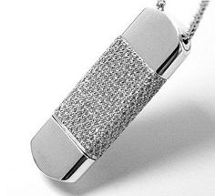 diamond and white gold USB drive
