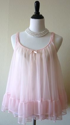 eb3b4cf6c2 1960 s Sweet n Sexy Baby Pink Baby Doll and Panty Set Baby Doll Nighties