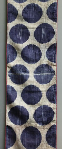 silk and cotton velvet - alabahman - ikat fabric - looks like our spongeware canvashomestore.com