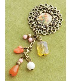 Vintage Groove Pendant 1PK-Ephemera Bead Drop: charms & pendants: beads: jewelry & beading: crafts: Shop | Joann.com