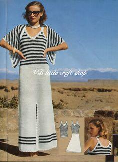 Ladies dress and shawl crochet pattern. Instant PDF download! by VBlittlecraftshop on Etsy