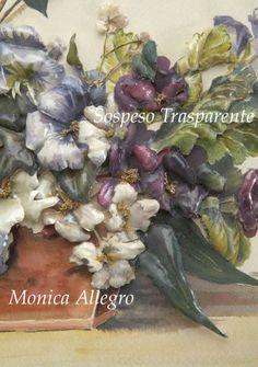 Sospeso Trasparente - Monica Allegro Plastic Moulding, Art Tutorials, Decoupage, Floral Wreath, Hobbies, Jewellery, Paper, Crafts, Painting