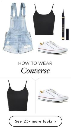 Untitled #1356 by dogs109 on Polyvore featuring H&M, Converse, Topshop and Yves Saint Laurent